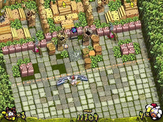 Фрагмент игры Куриная атака
