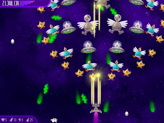 Фрагмент игры Вторжение кур. Полный омлет