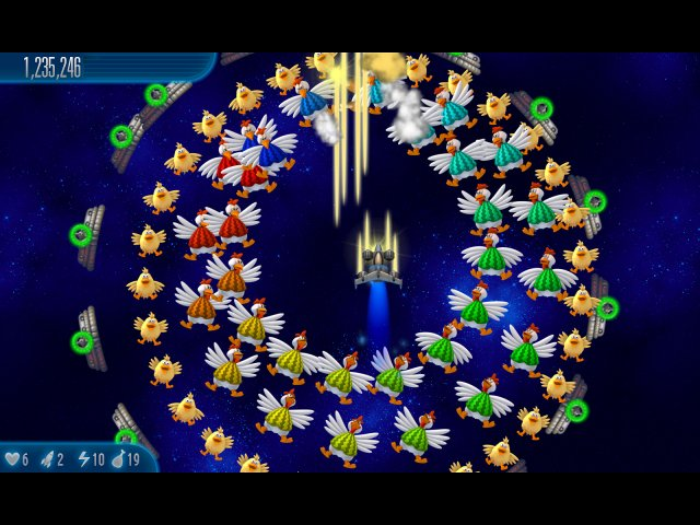 Фрагмент игры Вторжение кур 5 Тёмный клюв