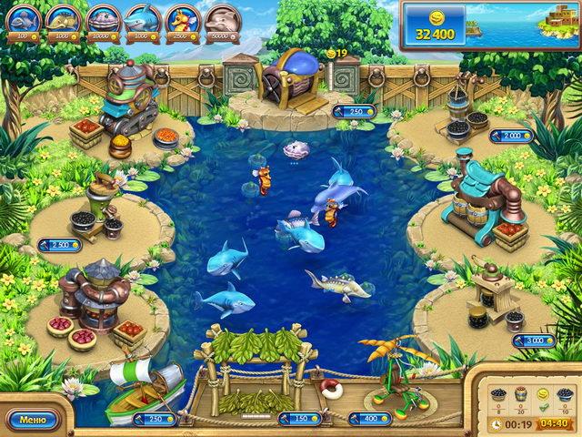 Фрагмент игры Веселая ферма. Рыбный день