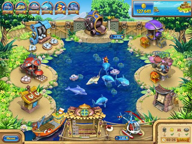 Игра Веселая ферма. Рыбный день Бизнес