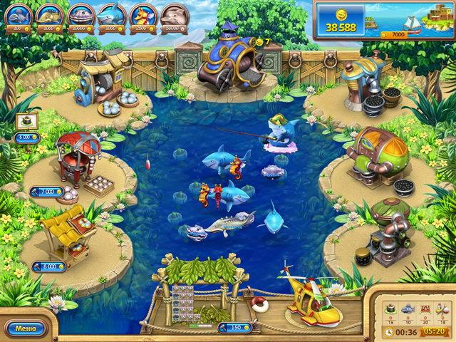 Игра Веселая ферма. Рыбный день