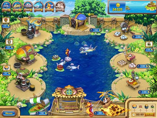 Изображение из игры Веселая ферма. Рыбный день