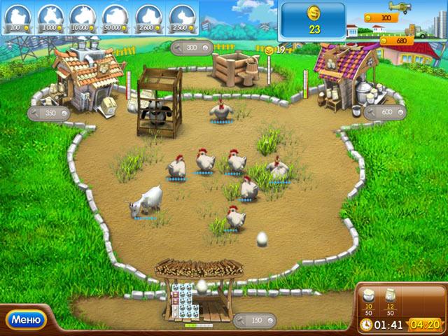Фрагмент игры Веселая ферма. Печем пиццу