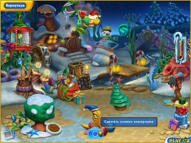 Игра Фишдом. Зимние каникулы Онлайн игры