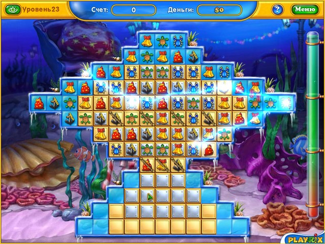 Онлайн игры игра Фишдом. Зимние каникулы