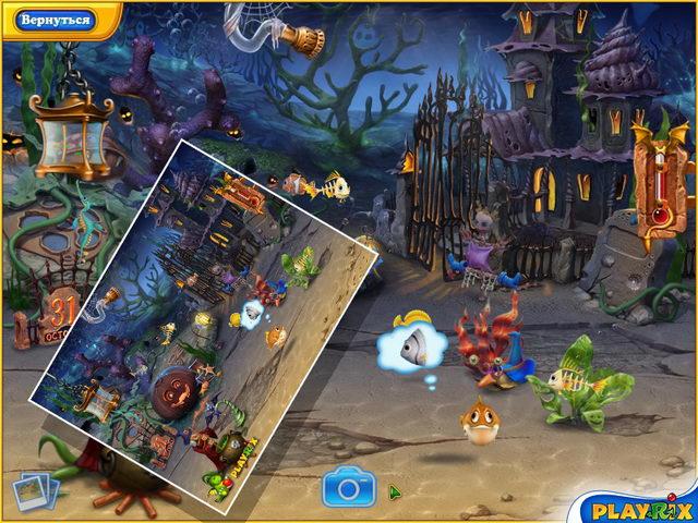 Онлайн игры игра Фишдом. Хеллоуин