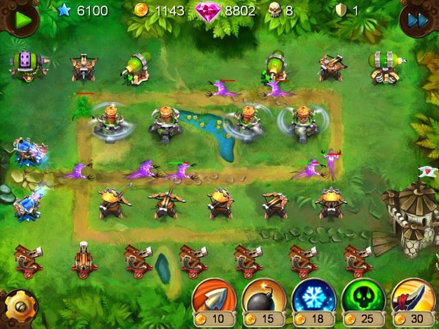 Фрагмент игры Гоблины-защитники. Сталь и древо