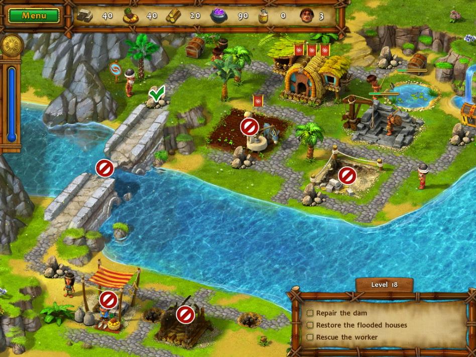 Фрагмент игры Моаи 2 Дорога в царство мёртвых