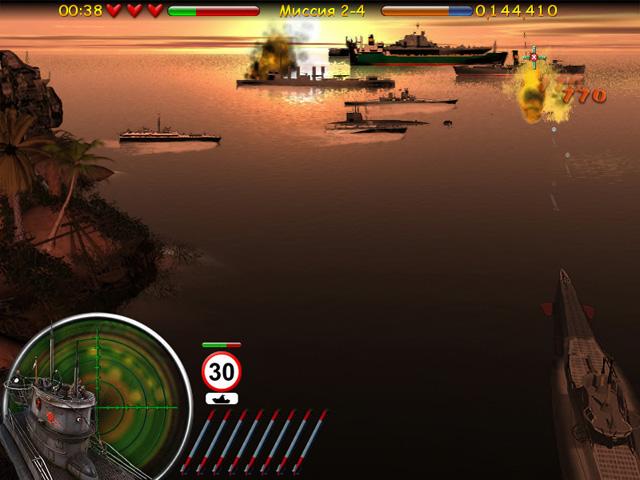 Игра Морской бой. Подводная война
