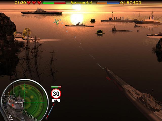Стрелялки игра Морской бой. Подводная война
