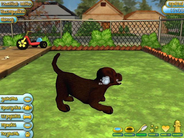 Изображение из игры Четвероногие друзья. Мой щенок