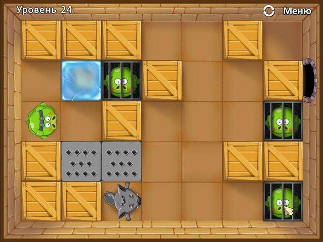 Фрагмент игры Четыре поросенка и коробка