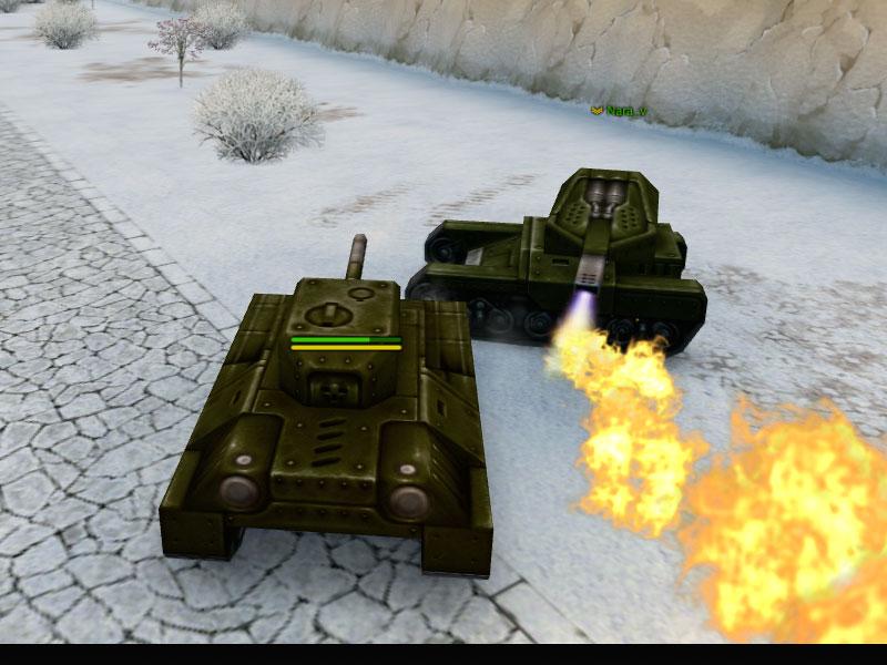 Фрагмент игры Танки Онлайн
