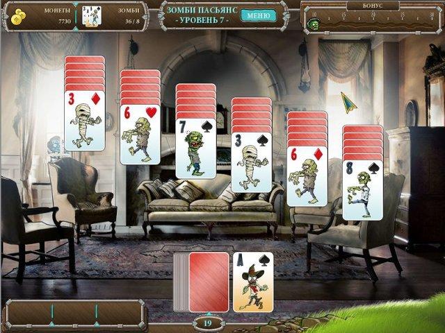 Игра Зомби пасьянс Настольные